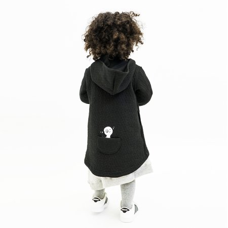 Kids Unisex Bash+Sass Hi-Lo Quilted Hoodie