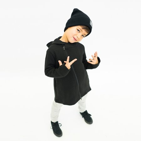 Kids Unisex Bash+Sass Hi-Lo Quilted Hoodie - Youth