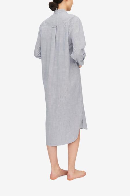 The Sleep Shirt Ankle Length Sleep Shirt - Navy Pinstripe
