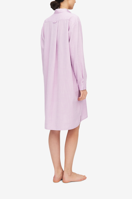 The Sleep Shirt Long Sleep Shirt - Textured Lilac
