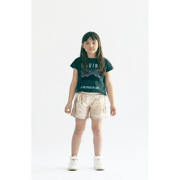 kids andorine metallic shorts - gold