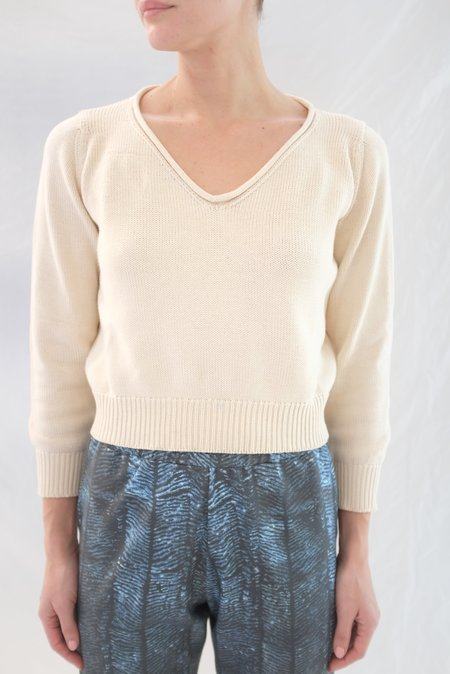 Beklina Latta V-neck Sweater - Straw