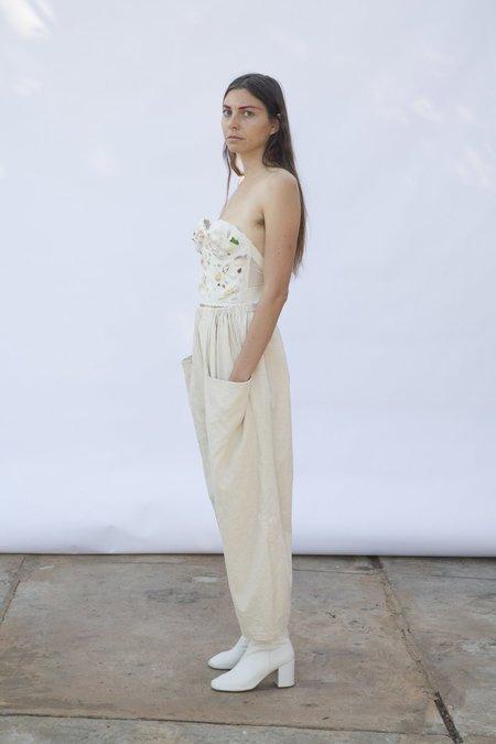 323 Maryam Pant - Natural Linen