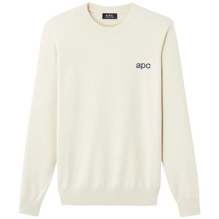 A.P.C. logo pullover - Ecru