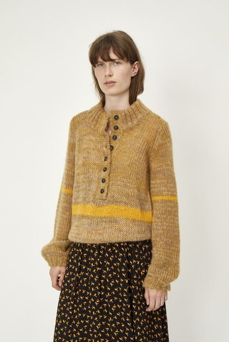 Just Female Dolly High Neck Knit - Nature Combo