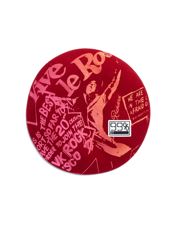 99% IS- Red Beret With Pink Print