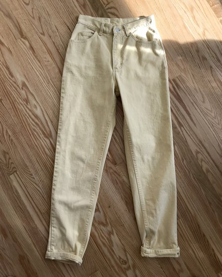 VINTAGE LEE High Waisted Jeans - Yellow