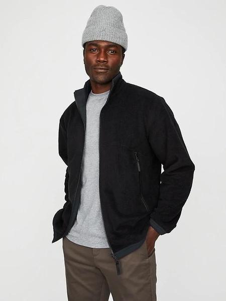 Hill City Reversible Hydro Fleece Jacket - Black