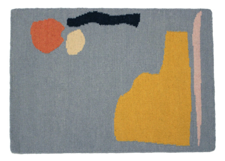 Cold Picnic Pepito Rug - Blue/Yellow