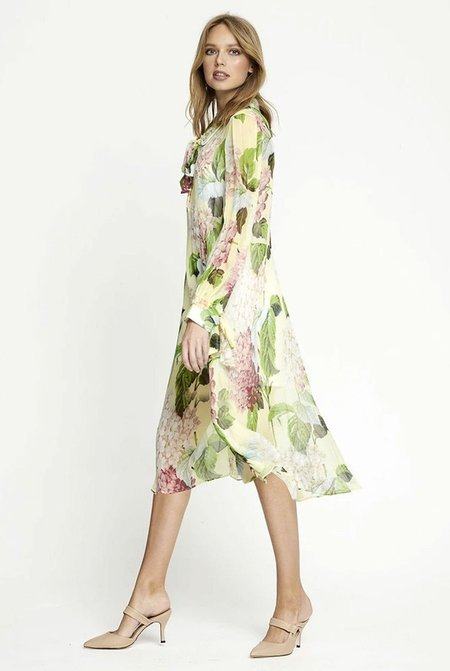 ALICE MCCALL Wild Flower Midi Dress - Lemon