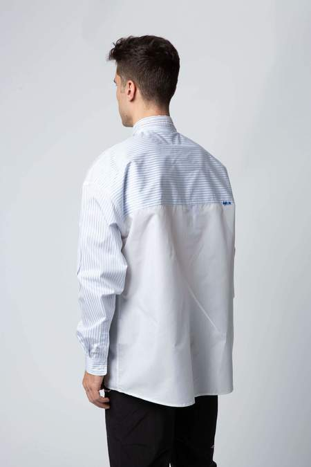 ADER ERROR Unbalanced Double Collar Shirt - STRIPE