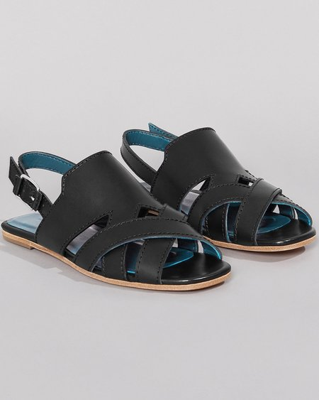 WILDER SHOES HAZEL SANDAL - BLACK VACHETTA