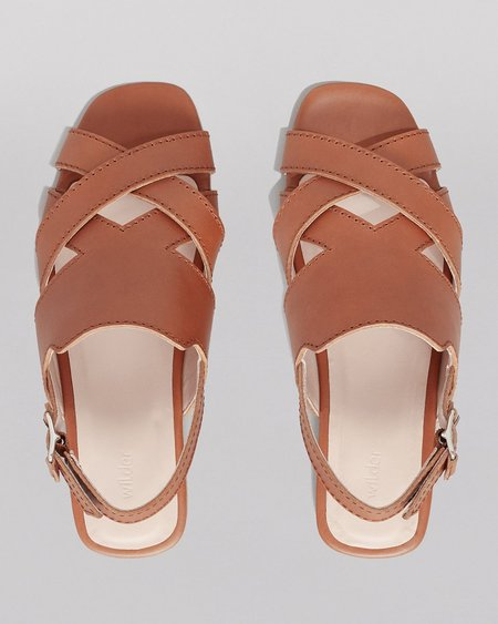 WILDER SHOES HAZEL SANDAL - TAN VACHETTA