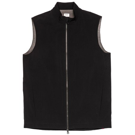 Northwestern Knitting Company 303 Quilted Collar Vest - Black