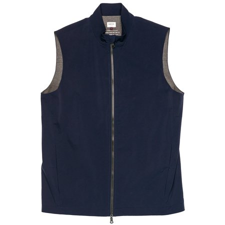 Northwestern Knitting Company 303 Quilted Collar Vest - Navy