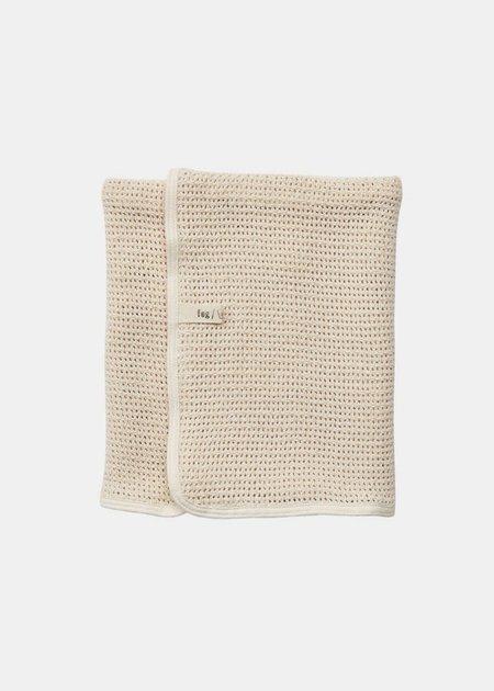 Baby Fog Linen Work Blanket - Ivory