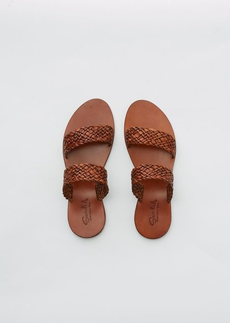 Dragon Diffusion Double Strap Sandal - tan