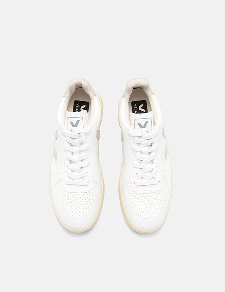 Veja V-10 Leather Trainers - White/Natural/Butter Sole