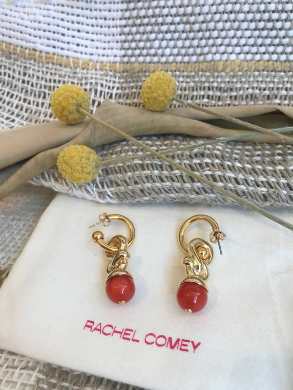 Rachel Comey Clingy Earring - Red Marble