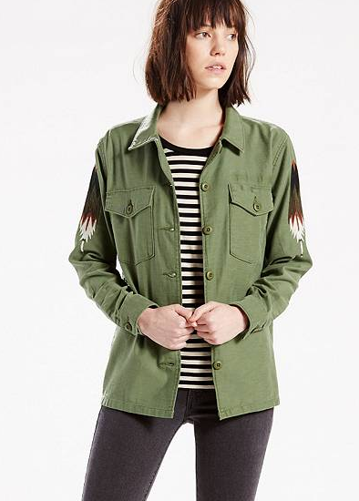Levis made crafted military shirt jacket garmentory for Levis made and crafted shirt