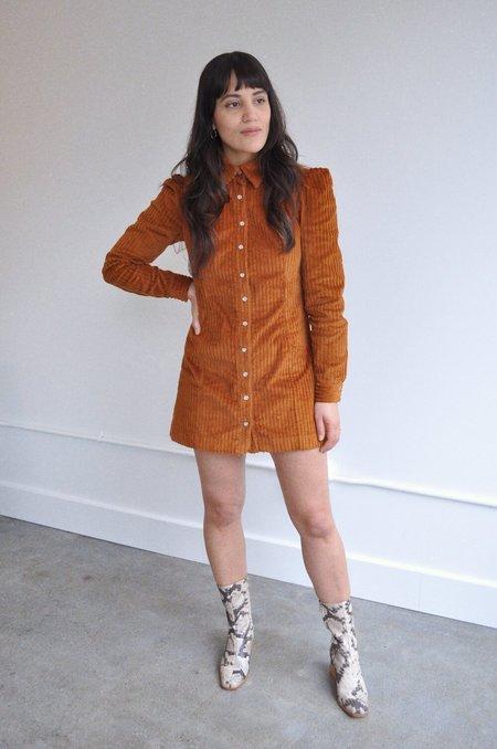 Cocobolo Chelsea Corduroy Mini Dress - Brown