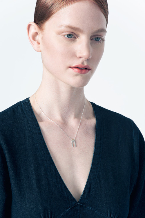 Natalie Joy - Silver Parallel Necklace