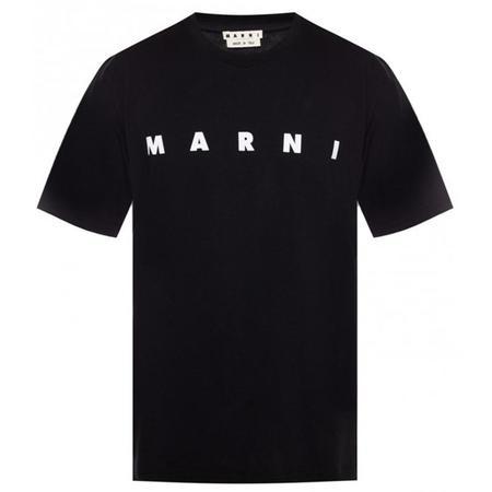 MARNI logo print T-shirt - Black