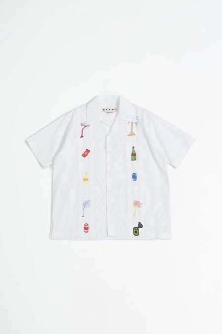 Marni Embroidered shirt - white