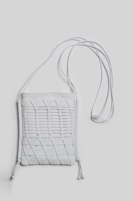 Hereu Trena Woven Leather Crossbody Bag - White