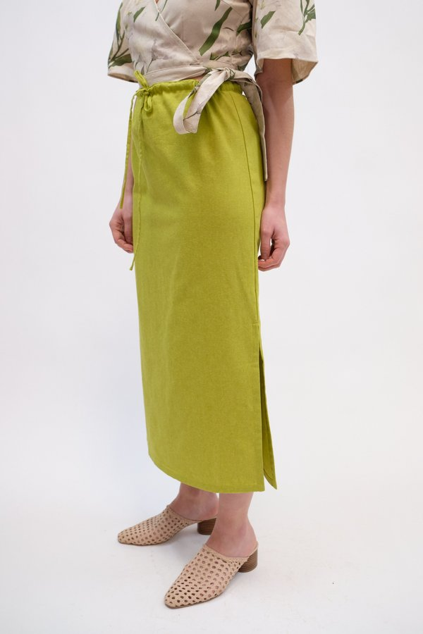 Lisa Says Gah Simone Maxi Skirt - Olive
