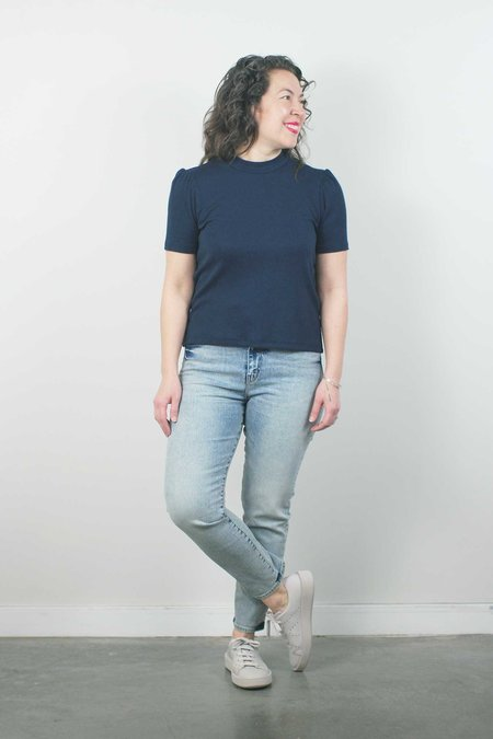 Father's Daughter LA Ally High Rise Tapered - Salt
