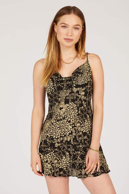 Free People Forever Fields Mini Dress - Floral/Animal