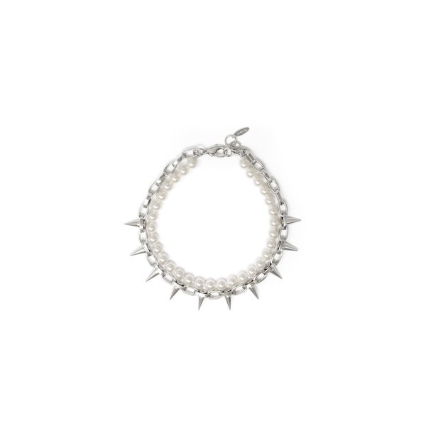 Joomi Lim Single Row Spike Choker W/ Pearls