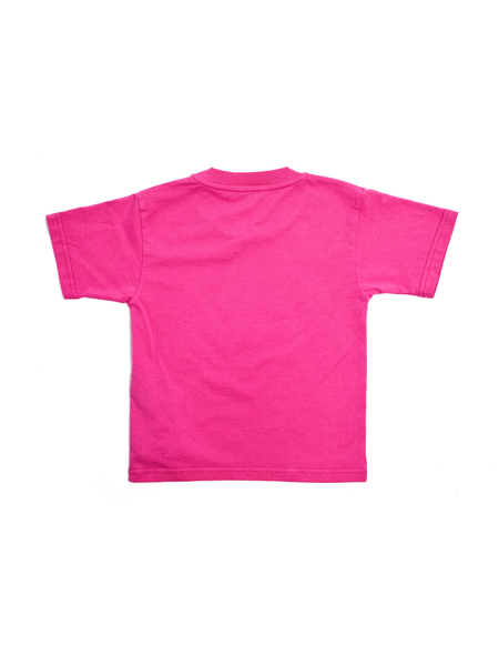 Kids Balenciaga Cotton Bonjour T-Shirt - Pink