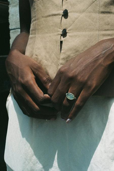 Vintage Antico Roman Glass Ring