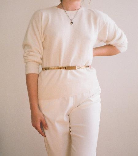 Vintage Rectangular Belt - Gold