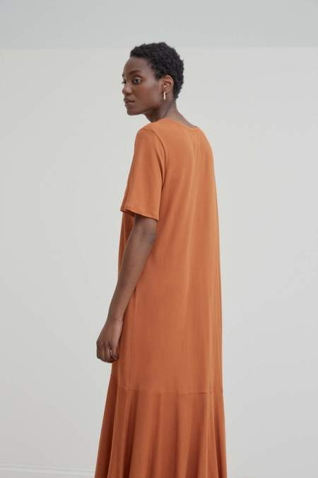 Kowtow Flare Hem Dress - copper