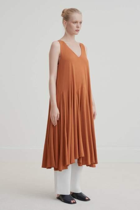 Kowtow Volume Dress - copper