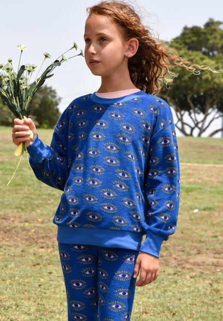 kids Bandy Button Clip Sweatshirt - Indigo Blue