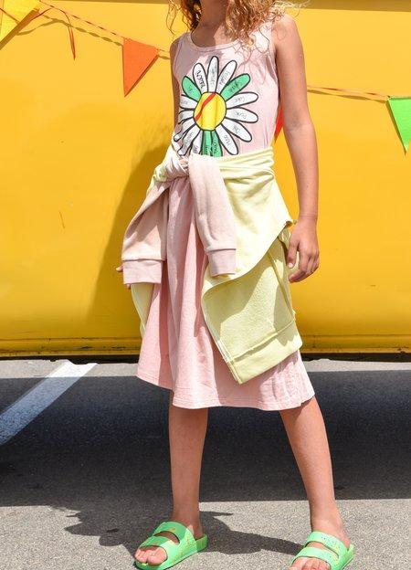 kids Bandy Button Hay Dress - pink