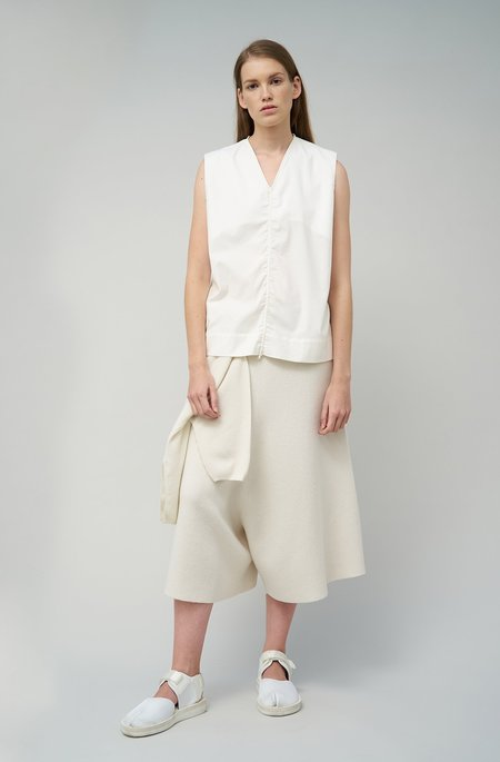 Oyuna Jasia Woven Sleeveless Cotton Top - Ivory