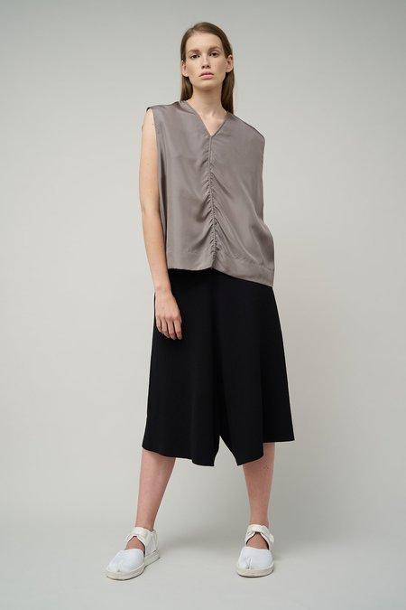 Oyuna Jasia Woven Sleeveless Silk Top - Stone