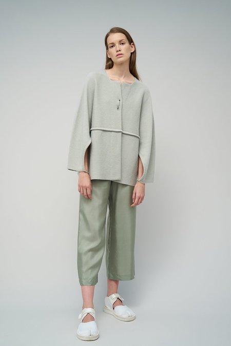 Oyuna Lena Knitted Cashmere/Cotton Lightweight Jacket - Green Mist