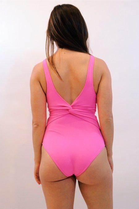 Jonathan Simkhai Twist One Piece - Neon Pink