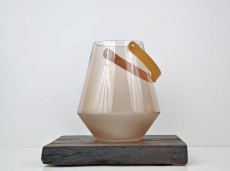 KIDS Bloomingville Glass Lantern - BLUSH