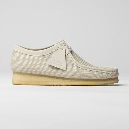 Clarks Wallabee Shoes - Off White