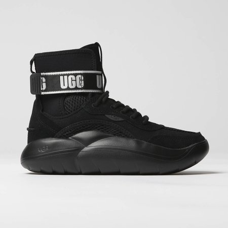 UGG LA Cloud Hi Sneaker - Black | Logo