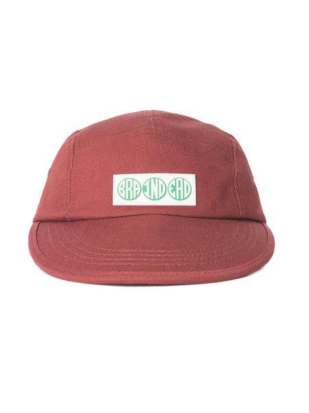 Brain Dead Extended Brim Hat - BURGUNDY