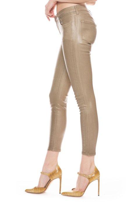 J Brand 835 Mid-Rise Skinny Jean - Coated Lalia