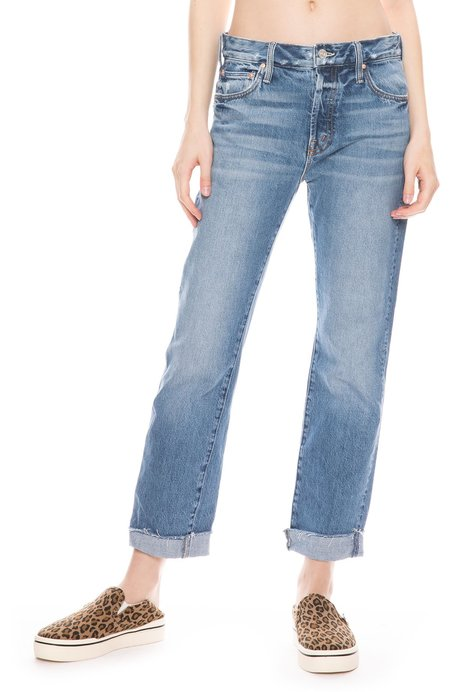 Mother Denim Scrapper Cuff Ankle Fray Jean - Take Me Higher